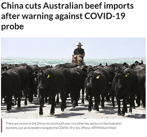 China cuts Australian beef imports after warning against COVID-19 probe.