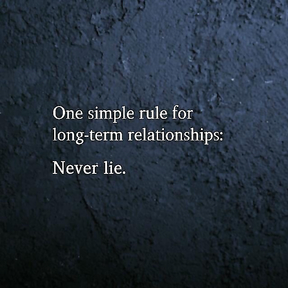 Almost all relationship problems start from a lie