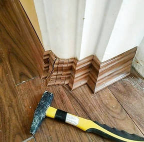 Skirting board done by a super carpenter
