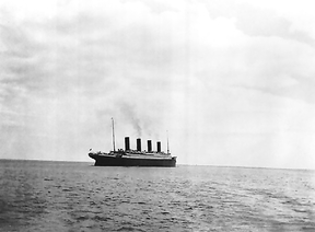 This is the last known photo of the Titanic afloat. It was taken in 1912.