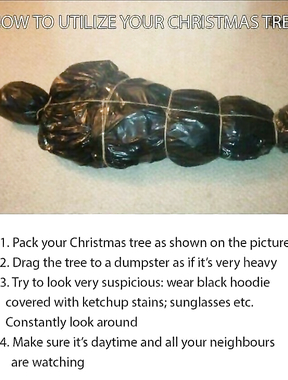 How to utilize your xmas tree to prank your neighbours.