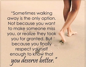 Sometimes walking away is the only option.