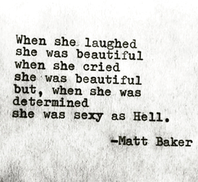 When she laughed she was beautiful..