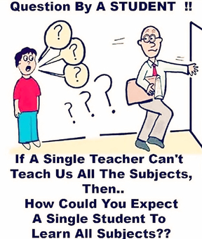 Then, who's the real teacher?