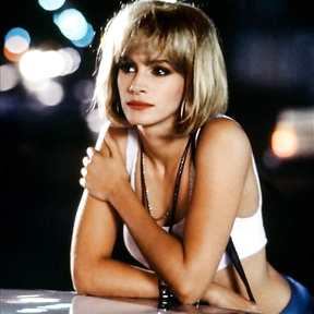 "Young Julia Roberts in the film ""Beauty"" 1990"