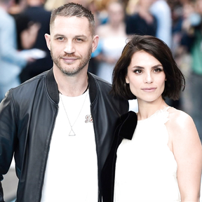 Tom Hardy and his wife, actress Charlotte Riley