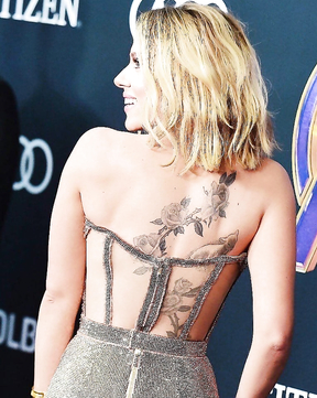 Beauty Scarlet got another tattoo on her back