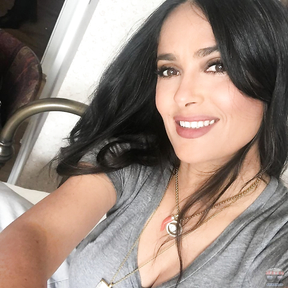 Natural Beauty - Salma Hayek's in her 54 looks just gorgeous.