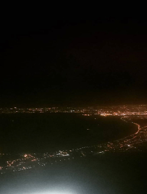 Dublin in Night time from the plane.