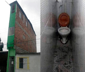 The narrowest house in the world one meter. Guess the country!