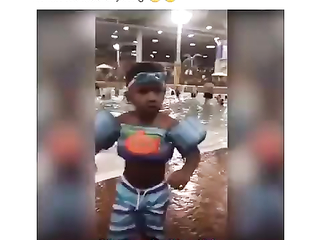 This little boy can't find his googls, funny boy.