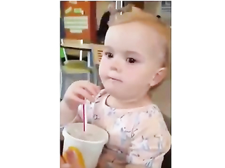 Her first soda ever.