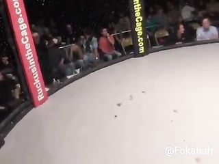 He beat the shit out of him. Lol