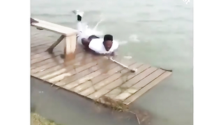 The jump was easy, but the landing... Lol