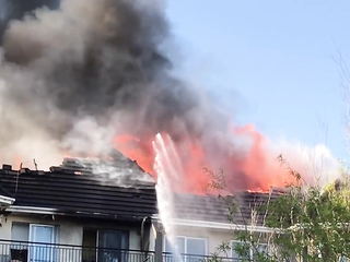 Apartments on Fire in Blanchardstown, Dublin.