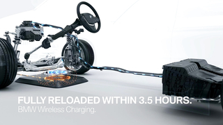 BMW Wireless Full Charging in 3,5 hrs. without a cable.