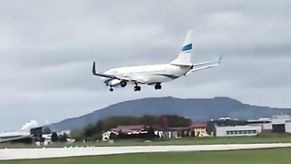 Absolutely wild approach into Salzburg Airport.