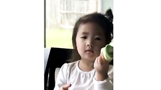 Little girl and her magic trick.