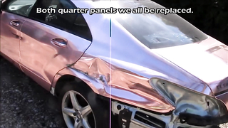 MB CLS500 Body repair after crush.