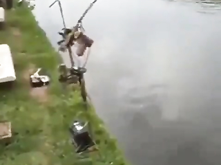 Amazing automatic fishing rod invention.