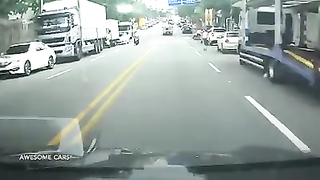 How not to drive on the road.