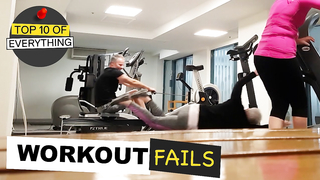 10 HILARIOUS GYM WORKOUT FAILS.