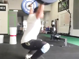Gym lefting weights fails.