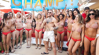 Conor McGregor hosts pool party at Encore Beach Club.