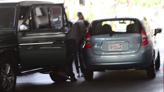 Sylvester Stallone gets into a ... in Beverly Hills, Ca