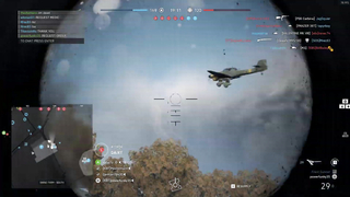 Funny moment in battlefield five, flying enemy.