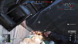 Some real tank driving skills in Battlefield V.