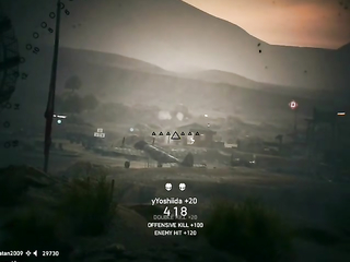 Tank sniper, some multikills with a tank