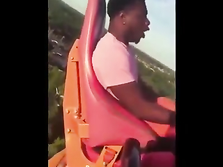 Mad respect for him even getting on the ride.