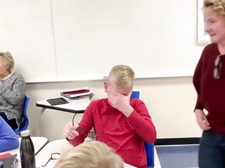 Color blind student gets to see color properly for the first time.