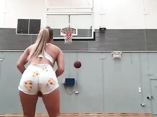 I would love to play with her basketball