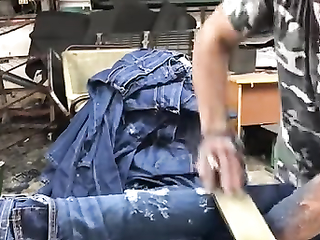 That's how they do jeans with holes