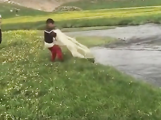 Kid Fishing for First Time.