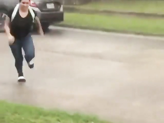 When it's very strong rain and you don't want to get whet, but..