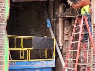 Is it so difficult to understand where this beam will fall, and that it will catch the ladder?