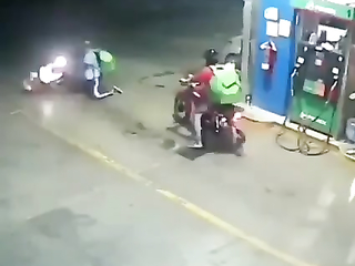 He's bike got mad when saw Fuel prices.