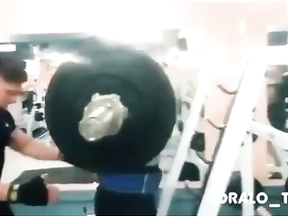 Men at gym fail