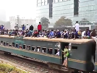 Looks like every people from the country going.. Bangladesh Railway.