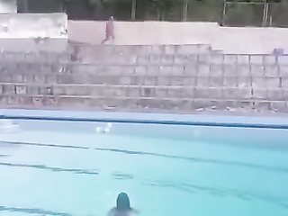 epic jump into the pool lol