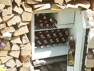 That is soooo awesome I want a spot like that full of bottles