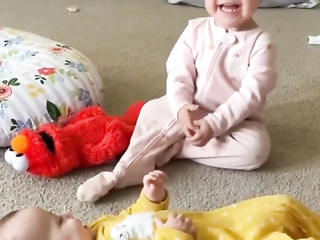 Funny little babies playing so cute and adorable