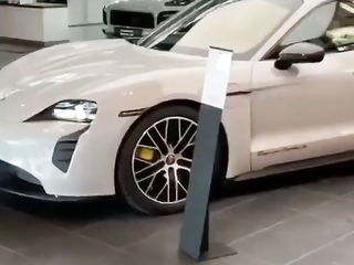 So that's how they get the cars in and out of the showrooms